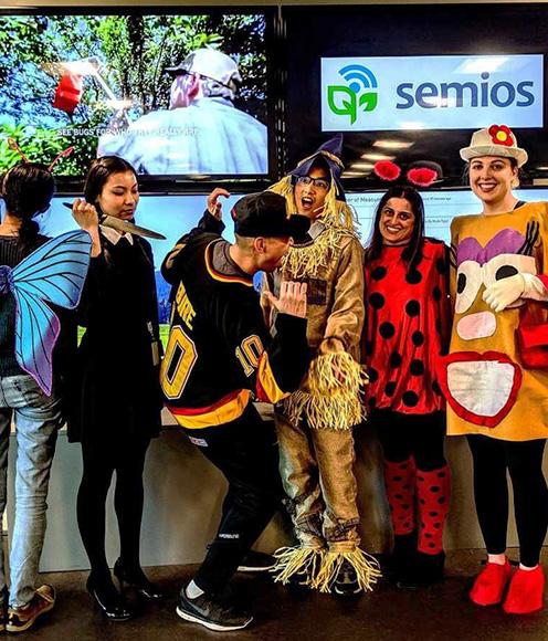 Semios employees dressed up on Halloween